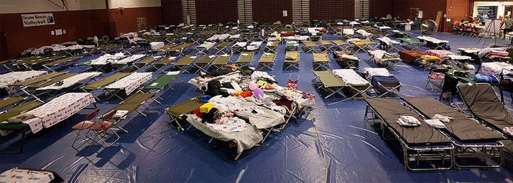 Beds at an Emergency Shelter