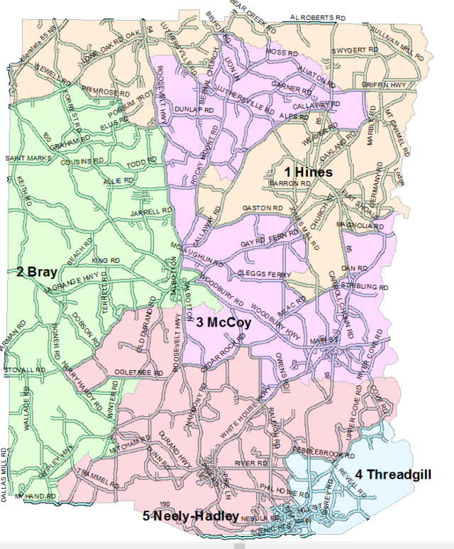 Commissioner Zoning Map of Meriwether County